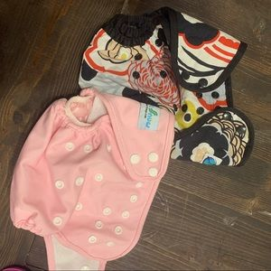Two cloth diapers shells